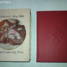 Libros de segunda mano: WASHBURN COLLEGE HOLY BIBLE. KING JAMES.OXFORD UNIVERSITY PRESS, NEW YORK .1ª EDICION 1980. Lote 107862491