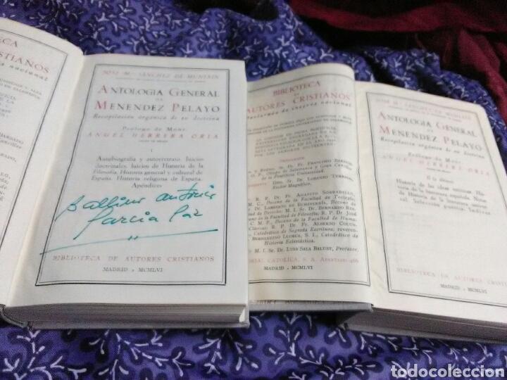 Libros de segunda mano: Antología General de Menéndez Pelayo. (2 Volúmenes, completa). BAC, nn. 155-156. 1956. - Foto 3 - 108747014