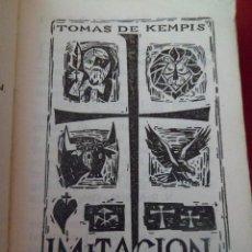 Libros de segunda mano: IMITACIÓN DE CRISTO. KEMPIS. REGINA. 1966. Lote 109533803