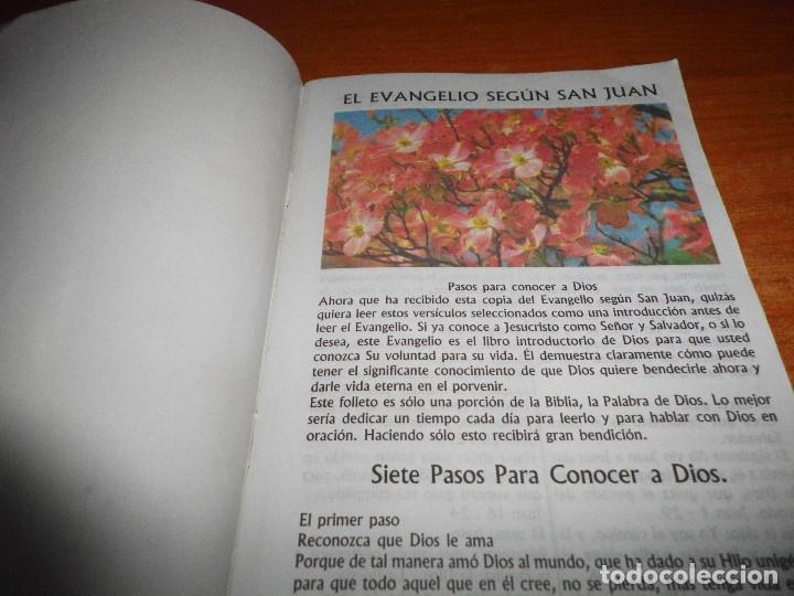 Libros de segunda mano: EL EVANGELIO SEGUN SAN JUAN Siete pasos para conocer a Dios FOLLETO IGLESIA EVANGELICA TAPA BLANDA - Foto 2 - 109591483