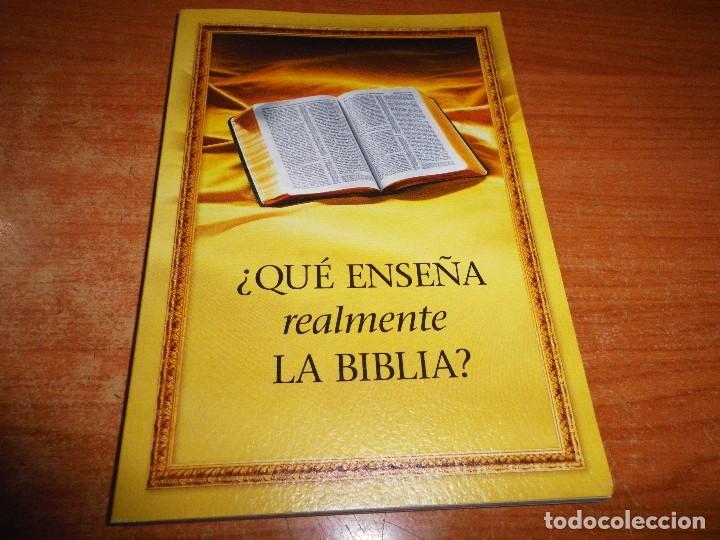 ¿QUE ENSEÑA REALMENTE LA BIBLIA ? TESTIGOS DE JEHOVA LIBRO 2005 ITALIA WATCHTOWER TAPA BLANDA (Libros de Segunda Mano - Religión)