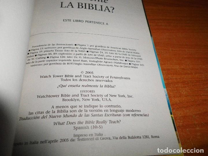 Libros de segunda mano: ¿QUE ENSEÑA REALMENTE LA BIBLIA ? TESTIGOS DE JEHOVA LIBRO 2005 ITALIA WATCHTOWER TAPA BLANDA - Foto 2 - 109797103