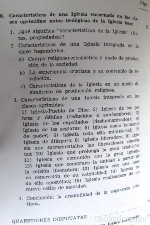 Libros de segunda mano: ECLESIOGENESIS - La comunidad de base reinventan la Iglesia - Por Leonardo Boff - Ed.Sal Terrea1986 - Foto 4 - 109916047