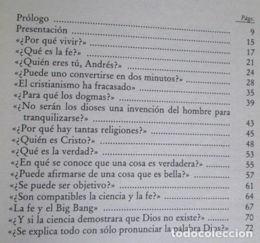 Libros de segunda mano: PREGUNTAS SOBRE DIOS - Por André Frossard - Ed. Rialp 1991 - Foto 3 - 109979955