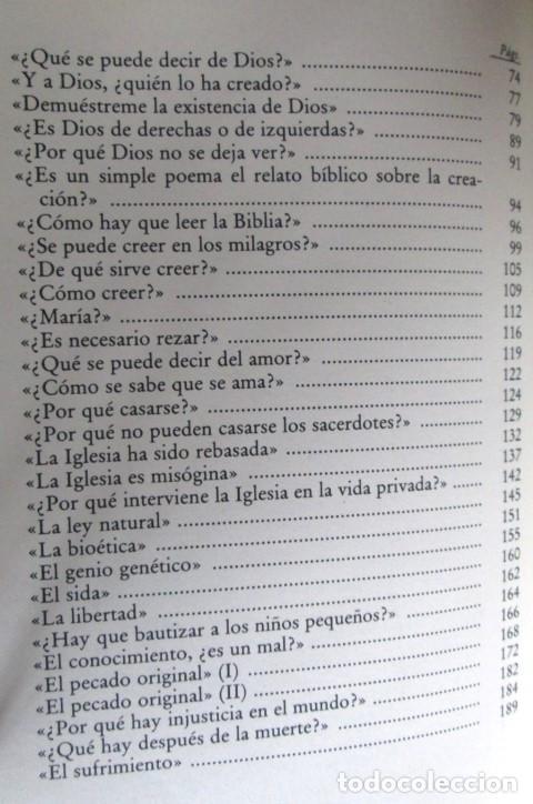 Libros de segunda mano: PREGUNTAS SOBRE DIOS - Por André Frossard - Ed. Rialp 1991 - Foto 4 - 109979955