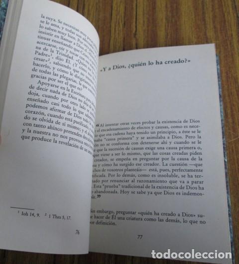 Libros de segunda mano: PREGUNTAS SOBRE DIOS - Por André Frossard - Ed. Rialp 1991 - Foto 6 - 109979955