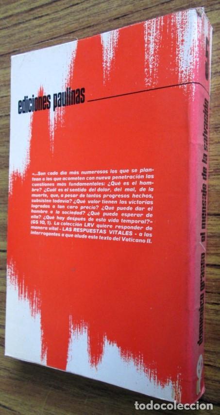 Libros de segunda mano: EL MENSAJE DE SALVACION - Por Dominico Grasso - Ed. Paulinas 1972 - Foto 2 - 109985143