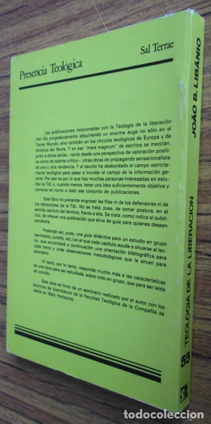 Libros de segunda mano: TEOLOGIA DE LA LIBERACION - Guía didáctica para su estudio - Por Joan Batista Libanio - Foto 2 - 109990235
