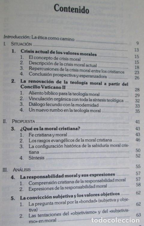 Libros de segunda mano: EL CAMINO DE LA ETICA CRISTIANA - Por Mauricio Vidal - Ed. Verbo divino 1985 - Foto 3 - 109992795