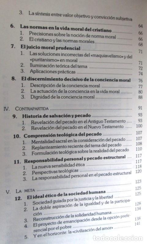 Libros de segunda mano: EL CAMINO DE LA ETICA CRISTIANA - Por Mauricio Vidal - Ed. Verbo divino 1985 - Foto 4 - 109992795