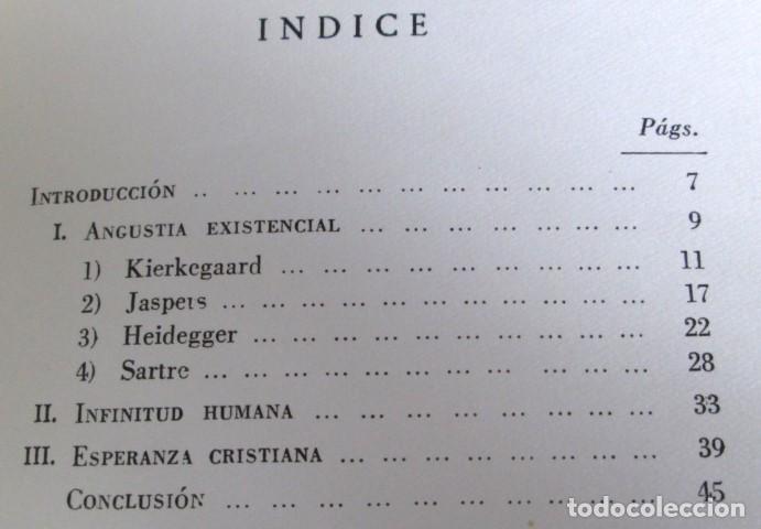 Libros de segunda mano: ANGUSTIA EXISTENCIAL Y ESPERANZA CRISTIANA - Por Juan José R. Rosado - Ed. rialp 1964 - Foto 3 - 109996603