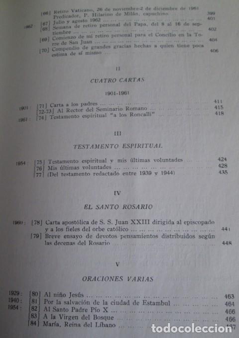 Libros de segunda mano: DIARIO DEL ALMA - Y otros escritos piadosos - Juan XXIII - Ed. Cristiandad 1964 - Foto 8 - 110001939