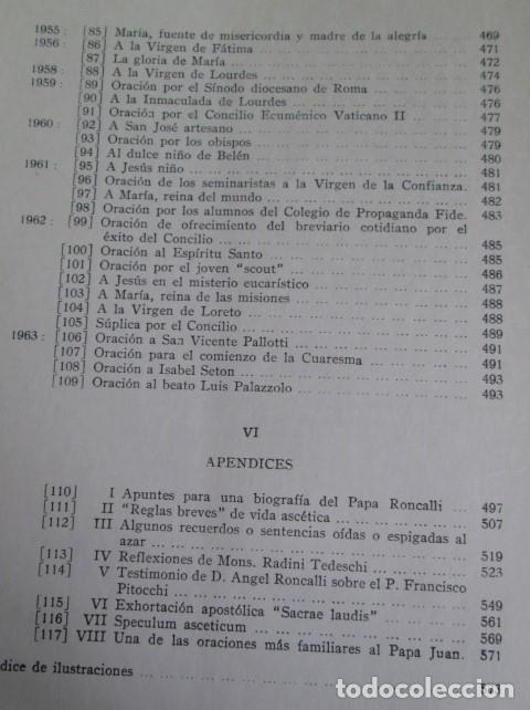 Libros de segunda mano: DIARIO DEL ALMA - Y otros escritos piadosos - Juan XXIII - Ed. Cristiandad 1964 - Foto 9 - 110001939