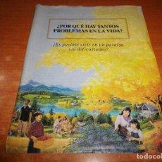 Libros de segunda mano: ¿POR QUE HAY TANTOS PROBLEMAS EN LA VIDA? TRATADO TESTIGOS DE JEHOVA Nº 34 ESPAÑA WATCHTOWER. Lote 110115055