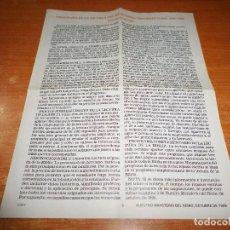 Libros de segunda mano: PROGRAMA DE LA ESCUELA DEL MINISTERIO TEOCRATICO 2000 TESTIGOS DE JEHOVA WATCHTOWER. Lote 110115595