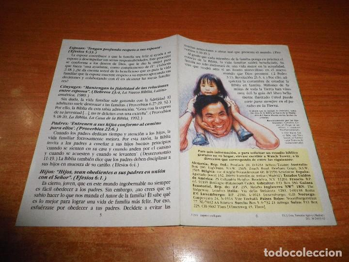 Libros de segunda mano: DISFRUTE DE SU VIDA DE FAMILIA TRATADO TESTIGOS DE JEHOVA T-21-S 1992 ESPAÑA WATCHTOWER - Foto 3 - 110121579