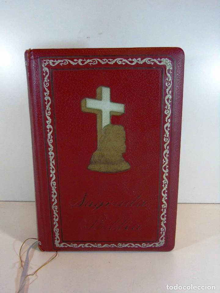 ANTIGUA SAGRADA BIBLIA VERSION CASTELLANA ED.GROLIER, AÑO 1957 (Libros de Segunda Mano - Religión)