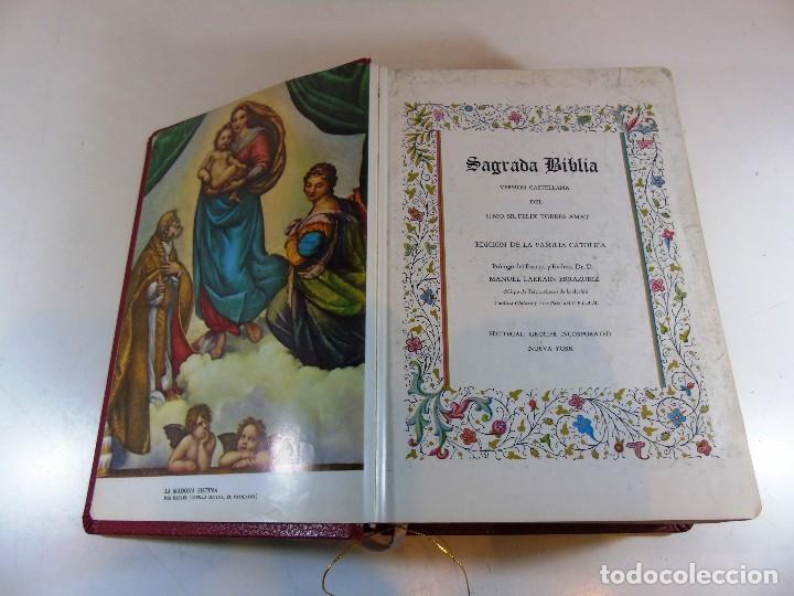 Libros de segunda mano: Antigua sagrada Biblia version castellana Ed.Grolier, año 1957 - Foto 6 - 204199786