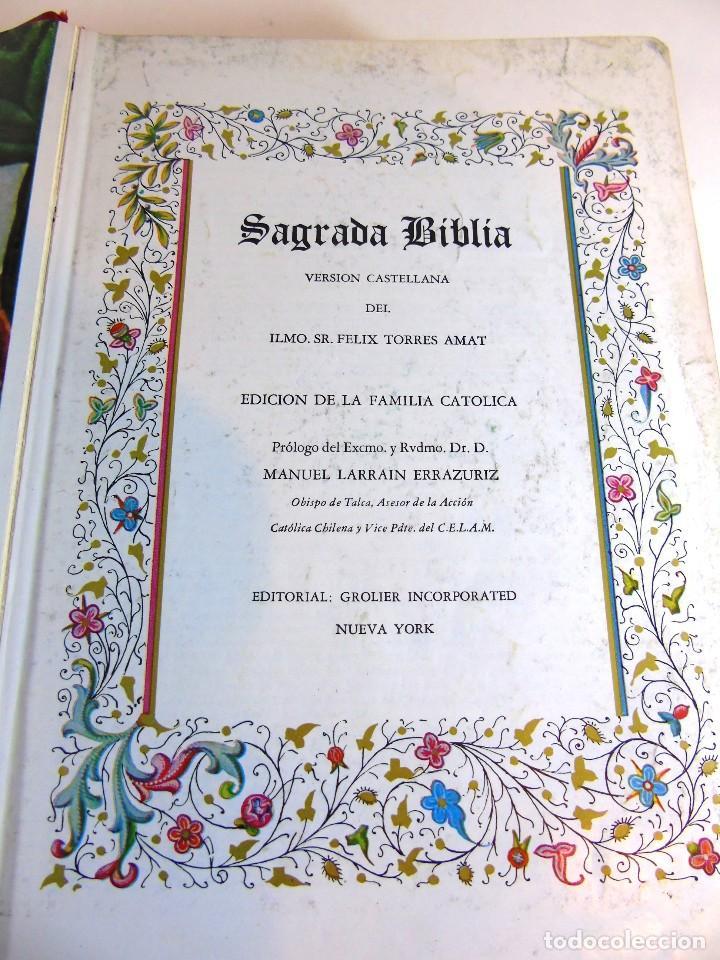 Libros de segunda mano: Antigua sagrada Biblia version castellana Ed.Grolier, año 1957 - Foto 7 - 204199786
