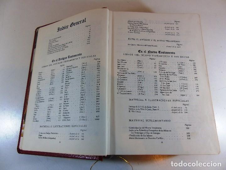 Libros de segunda mano: Antigua sagrada Biblia version castellana Ed.Grolier, año 1957 - Foto 8 - 204199786
