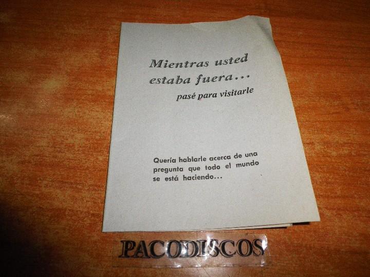 MIENTRAS USTED ESTABA FUERA LE VISITE TESTIGOS DE JEHOVA TRATADO PARA PREDICAR 1981 WATCHTOWER (Libros de Segunda Mano - Religión)