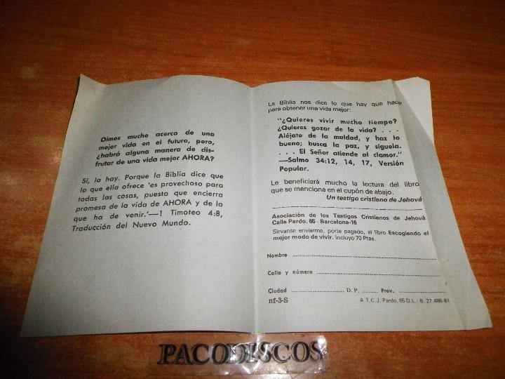 Libros de segunda mano: MIENTRAS USTED ESTABA FUERA LE VISITE TESTIGOS DE JEHOVA TRATADO PARA PREDICAR 1981 WATCHTOWER - Foto 2 - 120676144