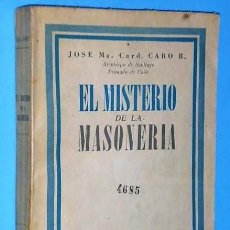 Libros de segunda mano: EL MISTERIO DE LA MASONERIA. Lote 110762775