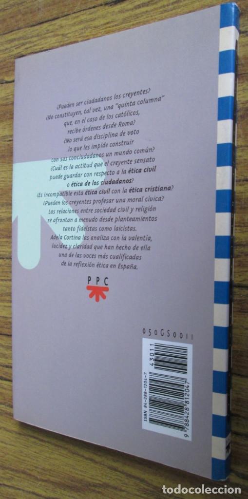 Libros de segunda mano: ETICA CIVIL Y RELIGION - Por Adela Cortina - Ed. PPC - Depósito legal 1995 - Foto 2 - 111376219