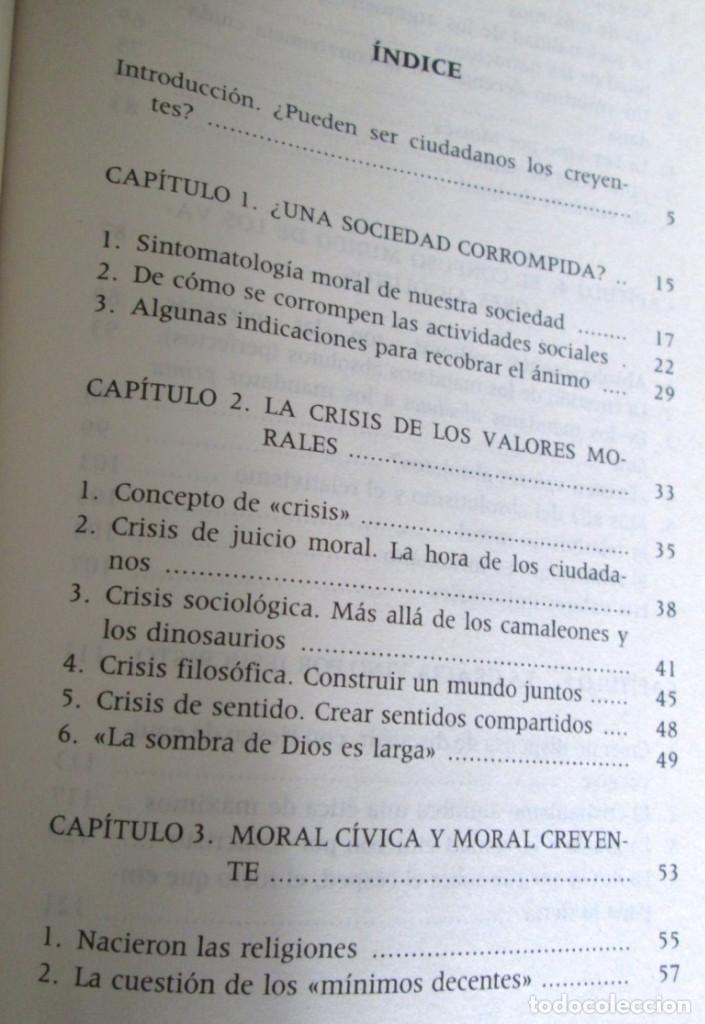 Libros de segunda mano: ETICA CIVIL Y RELIGION - Por Adela Cortina - Ed. PPC - Depósito legal 1995 - Foto 3 - 111376219