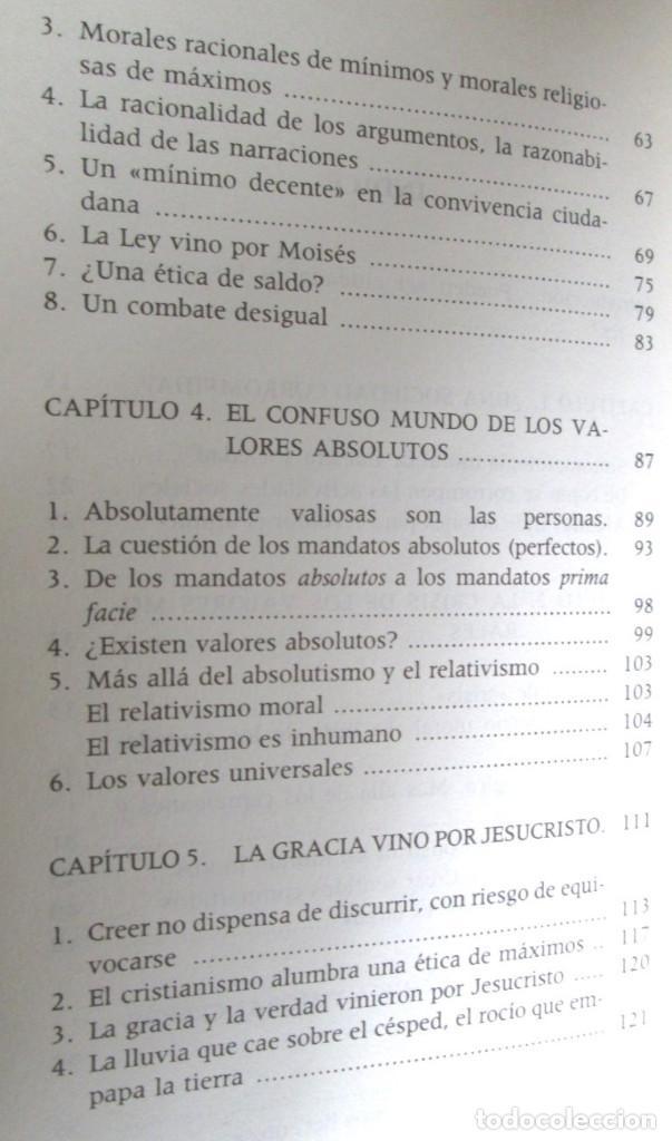 Libros de segunda mano: ETICA CIVIL Y RELIGION - Por Adela Cortina - Ed. PPC - Depósito legal 1995 - Foto 4 - 111376219
