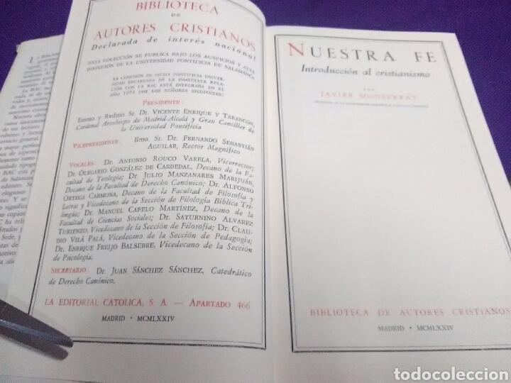 Libros de segunda mano: Nuestra fe. Introducción al cristianismo. J. Monserrat. BAC, nº 365. 1974. - Foto 2 - 111382510