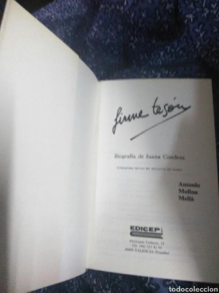 Libros de segunda mano: Firme tesón. Biografía de Juana Condesa. A. Molina. Edicep, 1985. - Foto 2 - 111647082