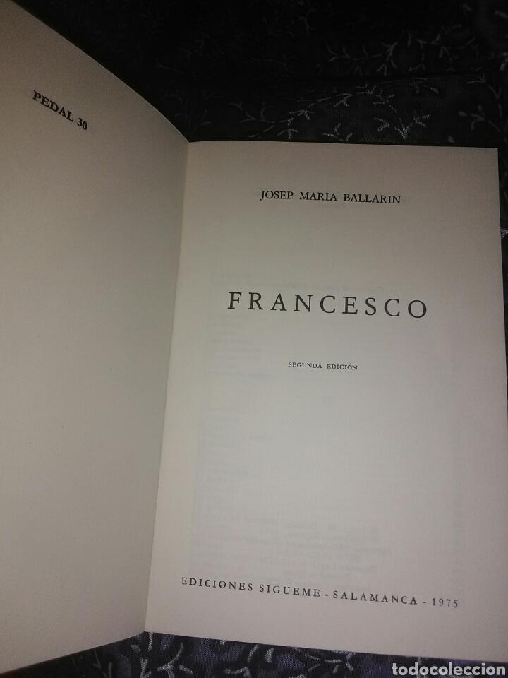 Libros de segunda mano: Francesco. J.M. Ballarin. Ed. Sígueme, 1975. - Foto 2 - 111647371