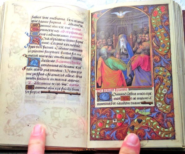 Libros de segunda mano: Facsímil íntegro del Oficio de la Virgen (s. XVI), edición de lujo con libro de estudios en español - Foto 9 - 111675671