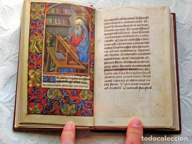 Libros de segunda mano: Facsímil íntegro del Oficio de la Virgen (s. XVI), edición de lujo con libro de estudios en español - Foto 7 - 111675671