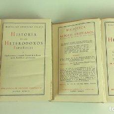 Libros de segunda mano: HISTORIA DE LOS HETERODOXOS ESPAÑOLES. MARCELINO MENÉNDEZ PELAYO. II TOMOS.1956.. Lote 111688223