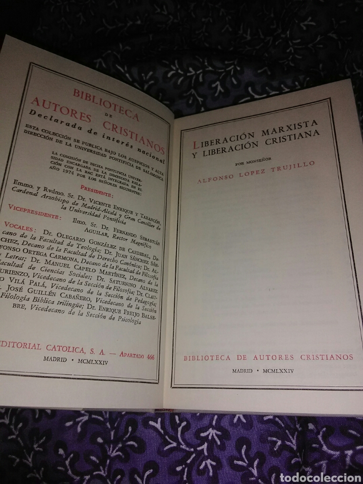 Libros de segunda mano: Liberación marxista y liberación cristiana. A. López Trujillo. BAC, nº 354. 1974. - Foto 2 - 111728251