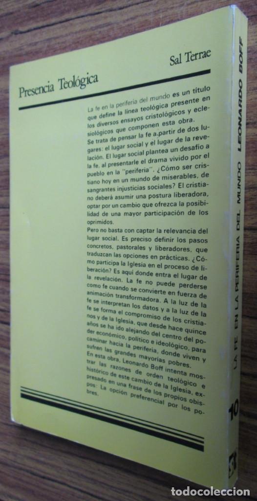 Libros de segunda mano: LA FE EN LA PERIFERIA DEL MUNDO - El caminar de la iglesia con los oprimidos - Por Leonardo Boff - Foto 2 - 112141859