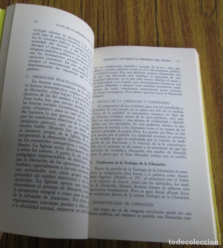 Libros de segunda mano: LA FE EN LA PERIFERIA DEL MUNDO - El caminar de la iglesia con los oprimidos - Por Leonardo Boff - Foto 6 - 112141859