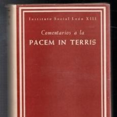 Libros de segunda mano: COMENTARIOS AL PACEM IN TERRIS. Lote 112529828
