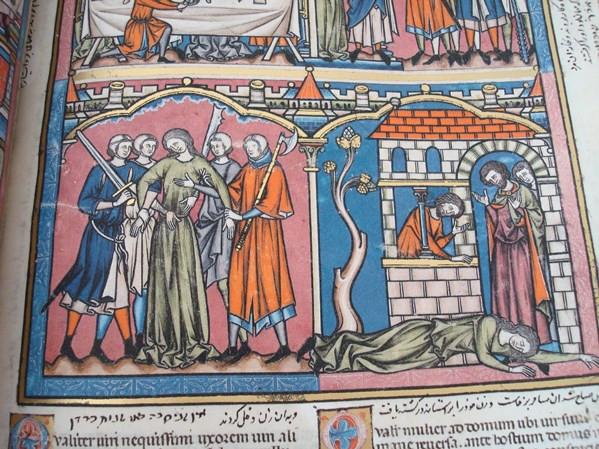 LA BIBLIA DE LOS CRUZADOS, S. XIII, EN PERGAMINO NATURAL (5*+). FACSÍMIL. SCRIPTORIUM (Libros de Segunda Mano - Religión)