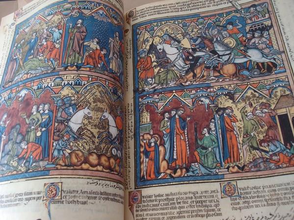 Libros de segunda mano: La Biblia de los Cruzados, s. XIII, en pergamino natural (5*+). Facsímil. Scriptorium - Foto 2 - 111949443