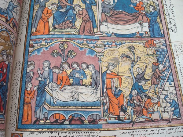 Libros de segunda mano: La Biblia de los Cruzados, s. XIII, en pergamino natural (5*+). Facsímil. Scriptorium - Foto 3 - 111949443