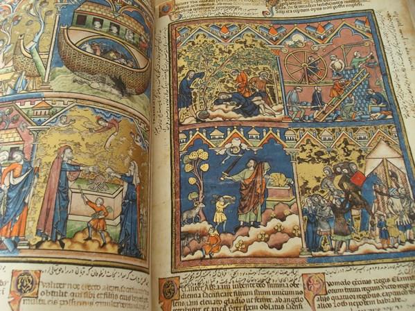 Libros de segunda mano: La Biblia de los Cruzados, s. XIII, en pergamino natural (5*+). Facsímil. Scriptorium - Foto 4 - 111949443