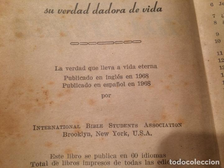 Libros de segunda mano: Antiguo libro la verdad que lleva a vida eterna año 1968 - Foto 3 - 113273815