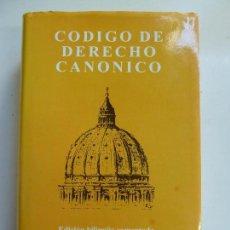 Libros de segunda mano: CÓDIGO DE DERECHO CANÓNICO. 1999. Lote 113478179
