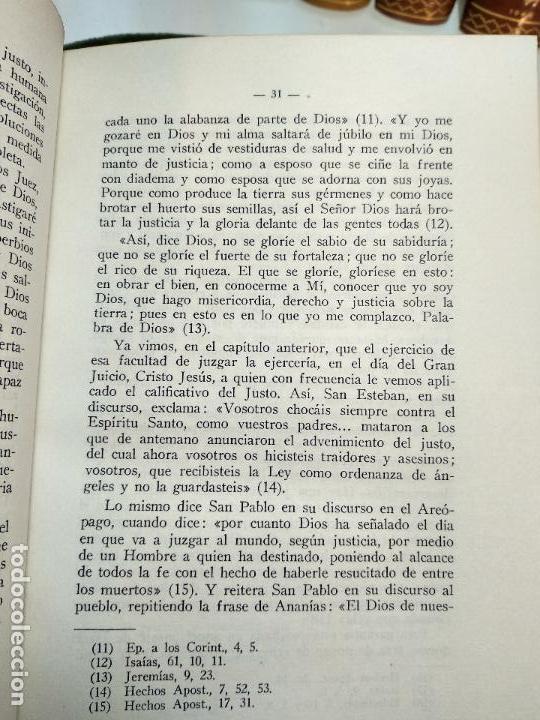 Libros de segunda mano: LA JUSTICIA Y LOS JUECES EN LA SAGRADA ESCRITURA - JOSE HIJAS PALACIOS - FIRMADO - MADRID - 1960 - - Foto 5 - 113494459