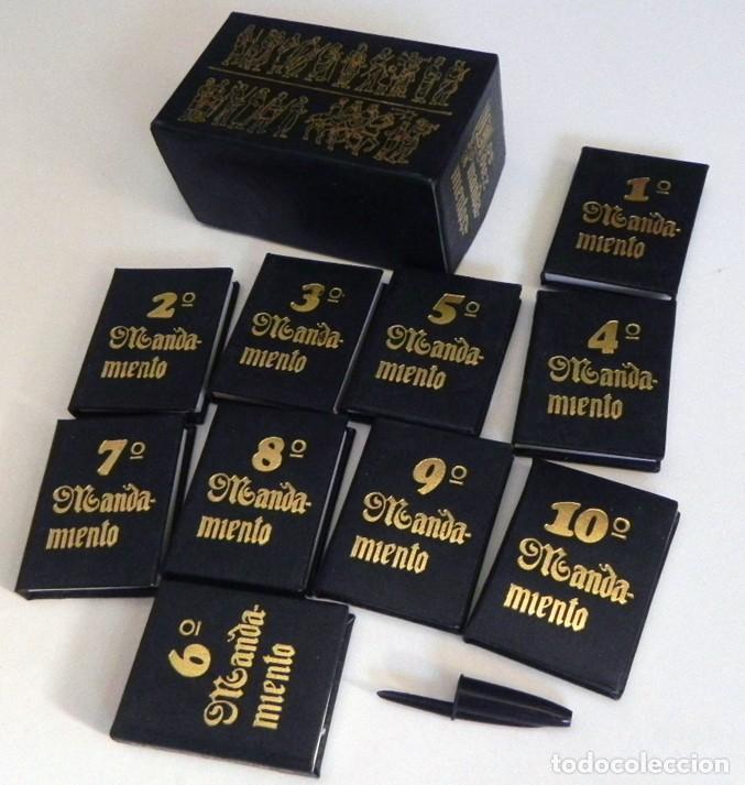 Los 10 Mandamientos Minilibros Monar 1979 Religión Cristiana Libro Miniatura Libritos Libros Pequeño
