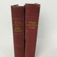 Libros de segunda mano: LIBROS OBRAS DE STA TERESA DE JESÚS 1951 Y GUÍA DE PECADORES 1942. Lote 114116415