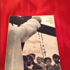 Libros de segunda mano: PREGÓN DE SEMANA SANTA SEVILLA 1968 . Lote 114753067